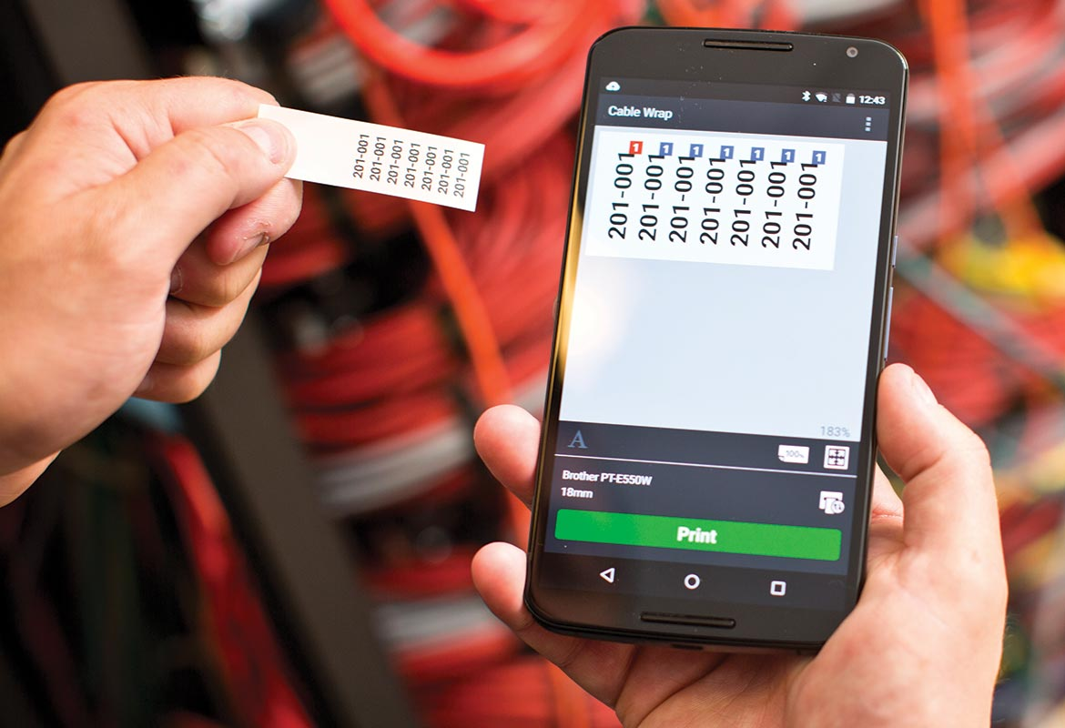Brohter cable label tool app