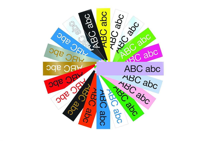 Tapevifte som viser fargekombinasjoner