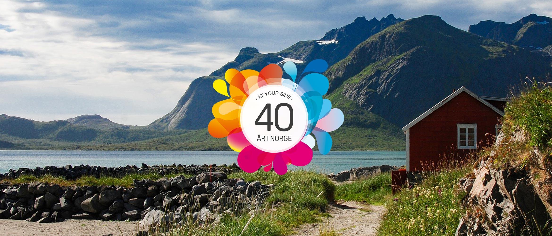I 2017 feirer Brother 40 år i Norge