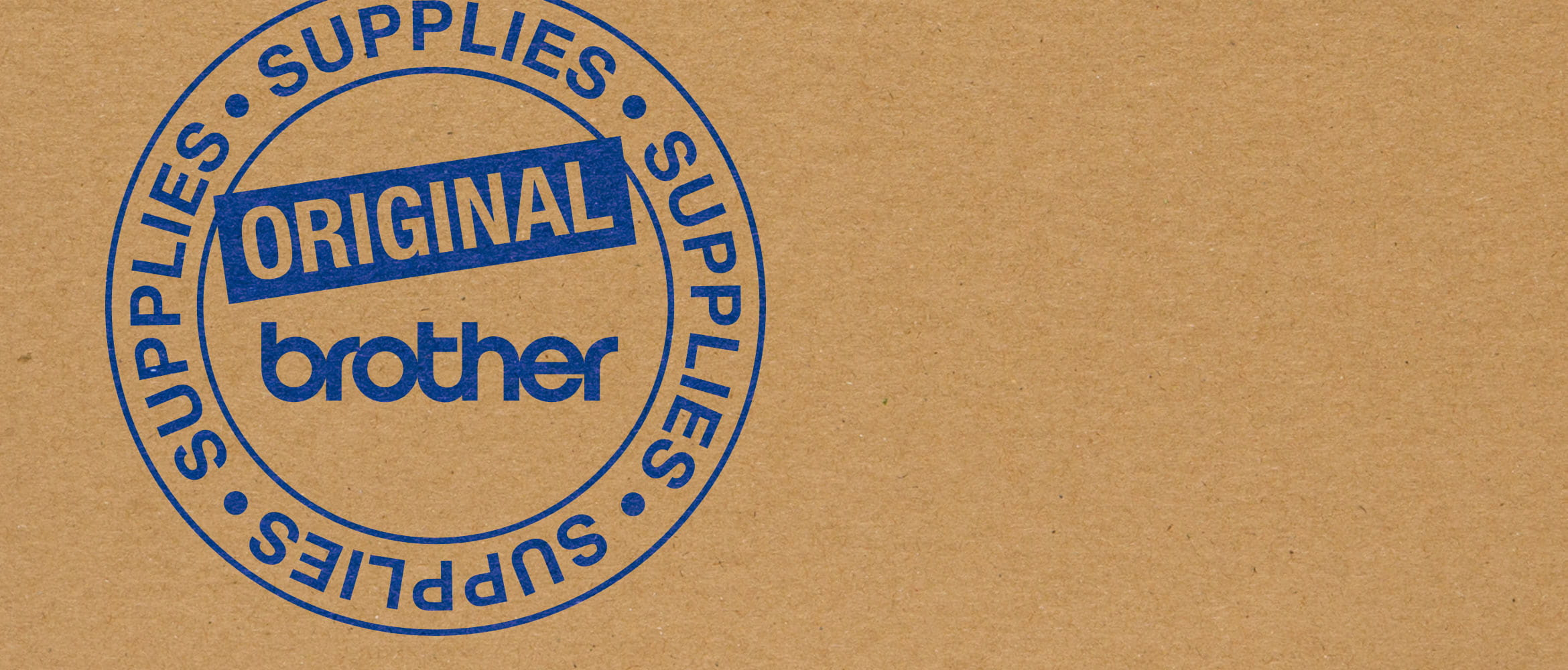 Hallmark stamp certifying a Brother original product