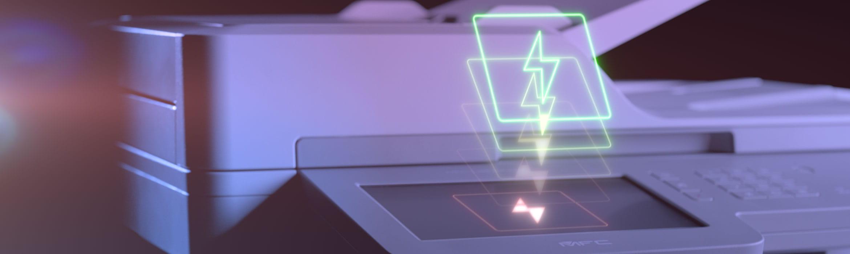 Brother MFC-L9570CDW business fargelaser med med blitzikon over berøringsskjerm