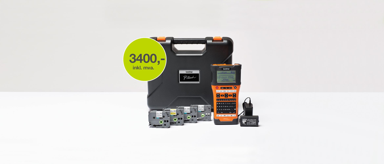 PTE550WSP merkemaskin og fire tape
