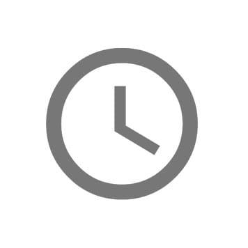 Klokke ikon for spar tid
