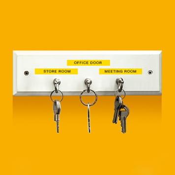 Nøkler som er merket