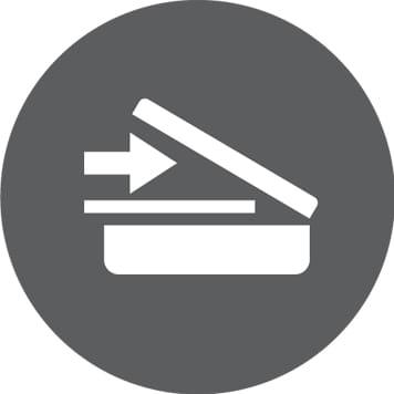 ikon for skann med bilde av skanner