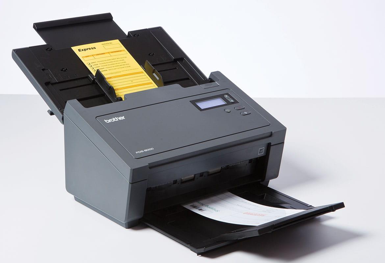 Skanner som skanner et dokument