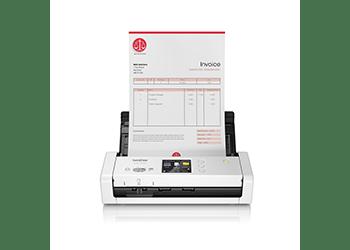 Brother ADS1700W scanner med et dokument i materen front