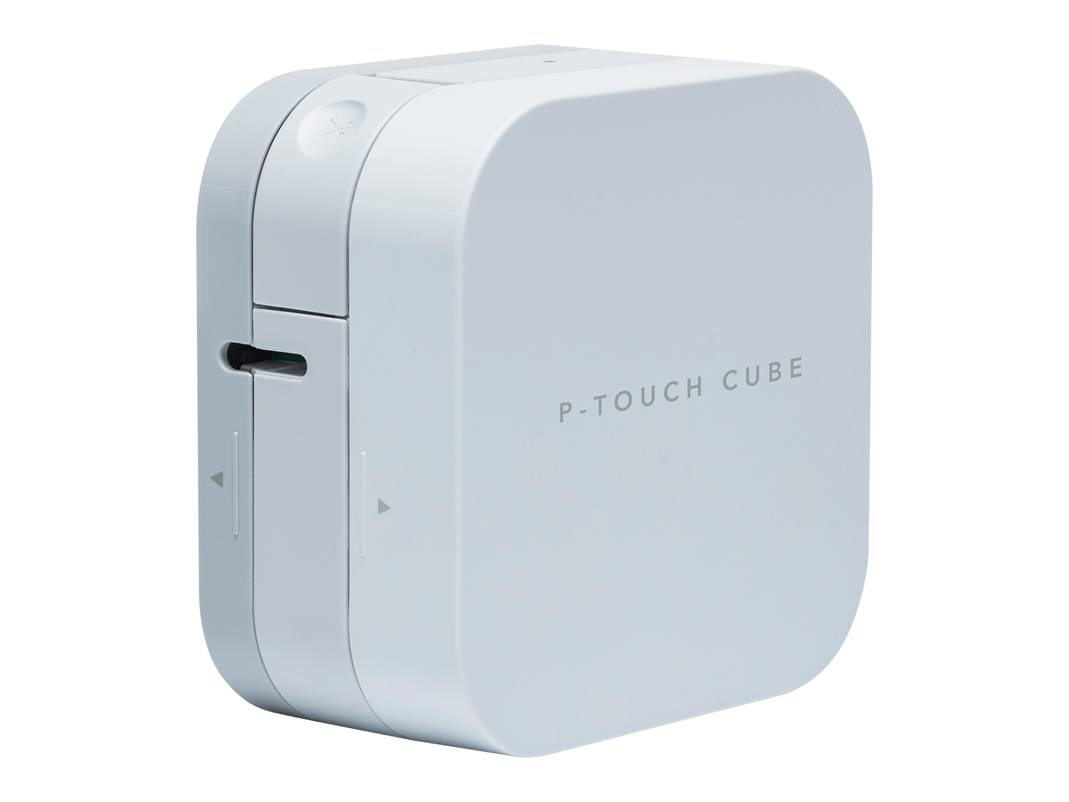 Brother P-touch CUBE P300BT merkemaskin skråstilt mot venstre