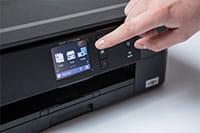 Brother DCPJ772DW printer berøringsskjerm