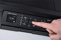 Brother MFCJ491DW med brukervennlig 4,5 cm farge LCD skjerm