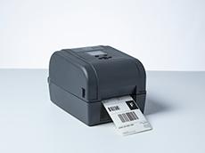 Brother skrivebords etikettskriver i TD4T-serien skriver ut leveranseetikett med strekkoder