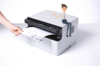 Multifunksjon laserskriver Brother DCP1610W print, kopi og skann