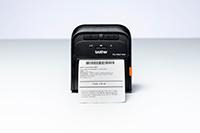 En kvittering skrives ut på en Brother RJ3035B eller RJ3055WB mobil skriver