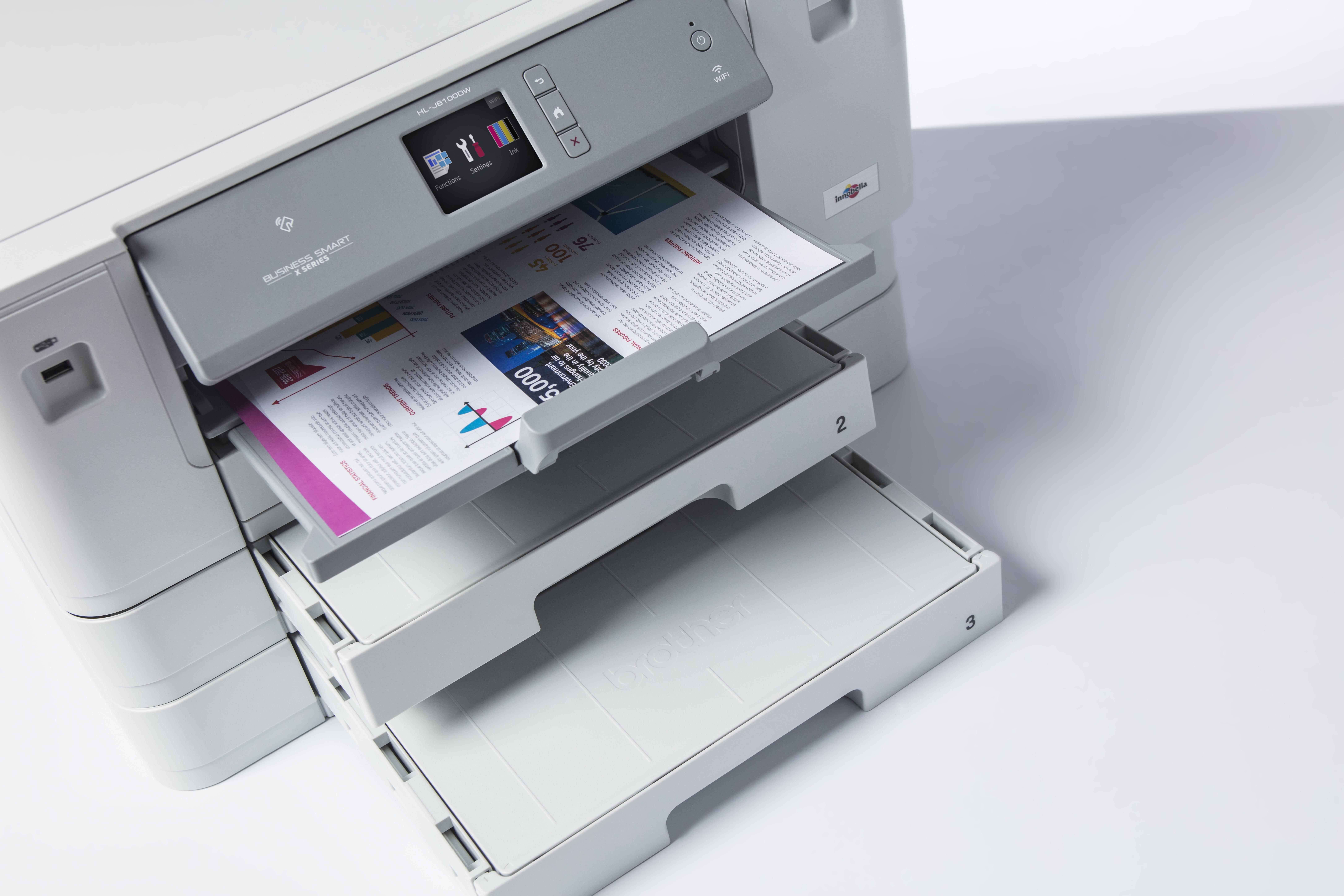 Brother HL J6100DW blekkskriver med tre papirmagasin og flerbruksskuff