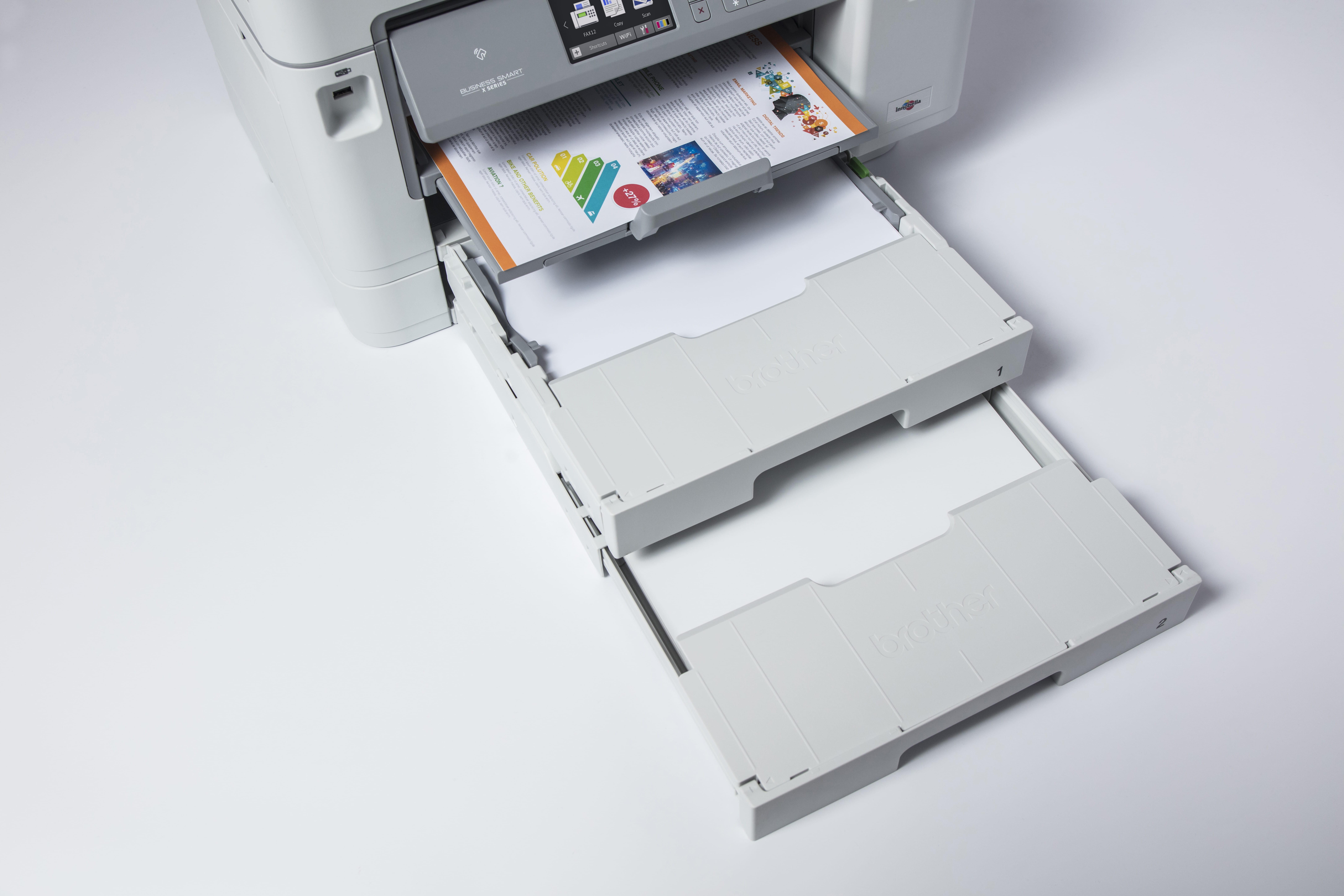 Brother MFC J5945DW multifunksjon blekkskriver med to papirmagasin og flerbruksskuff