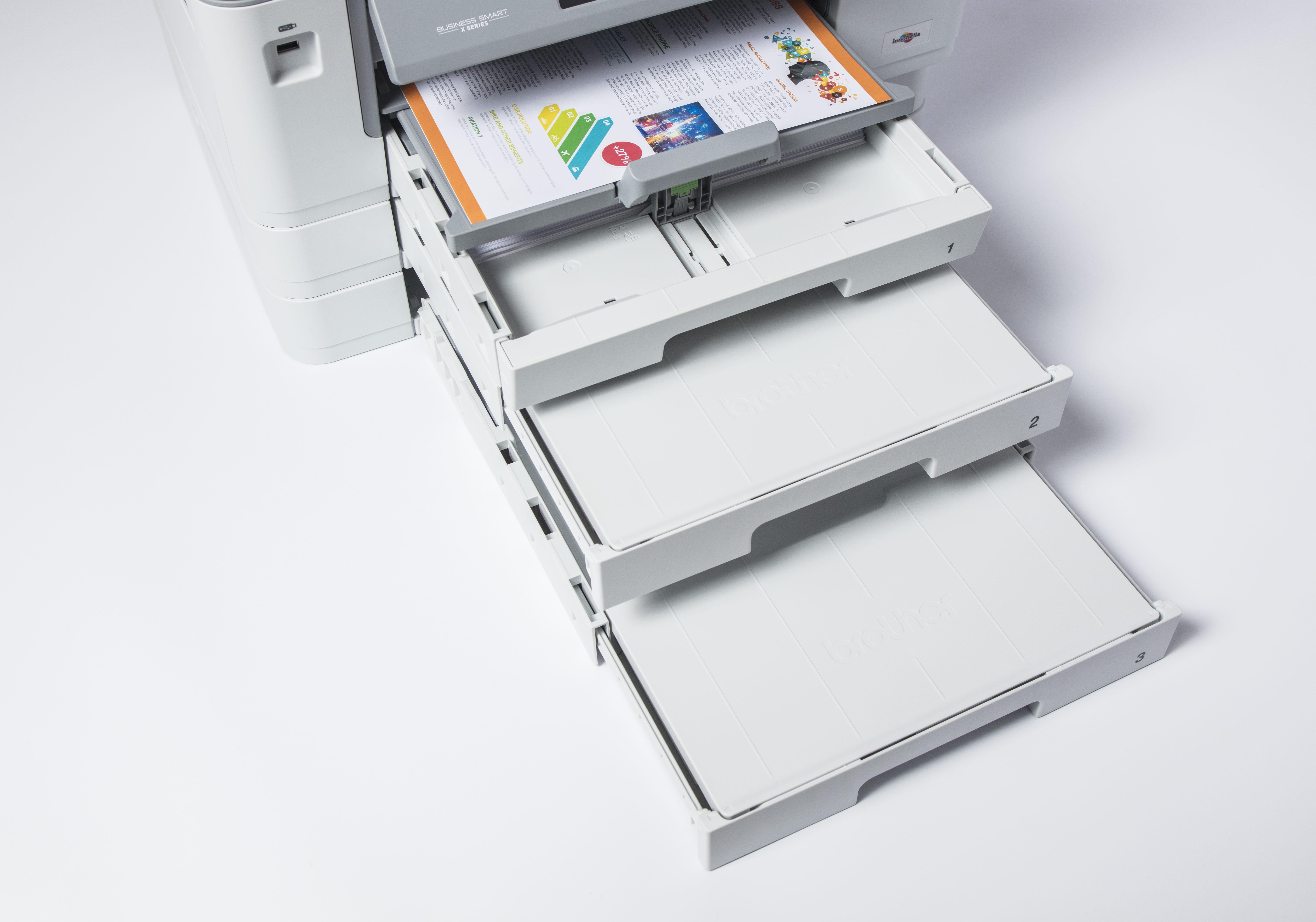 Brother MFC J6947DW multifunksjon blekkskriver med tre papirmagasin og flerbruksskuff