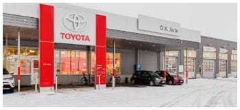 O.K. Auto Oy i Kouvola Toyota servicesenter