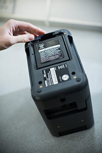 Brother PT-P900W label printer with rechargeable battery base