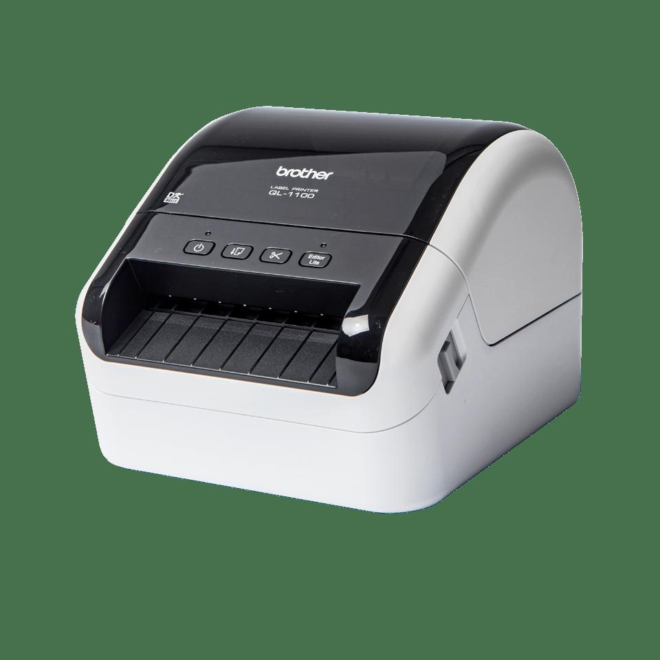QL1100 etikettskriver for utskrift av leveranseetiketter i bredt format med strekkoder 2