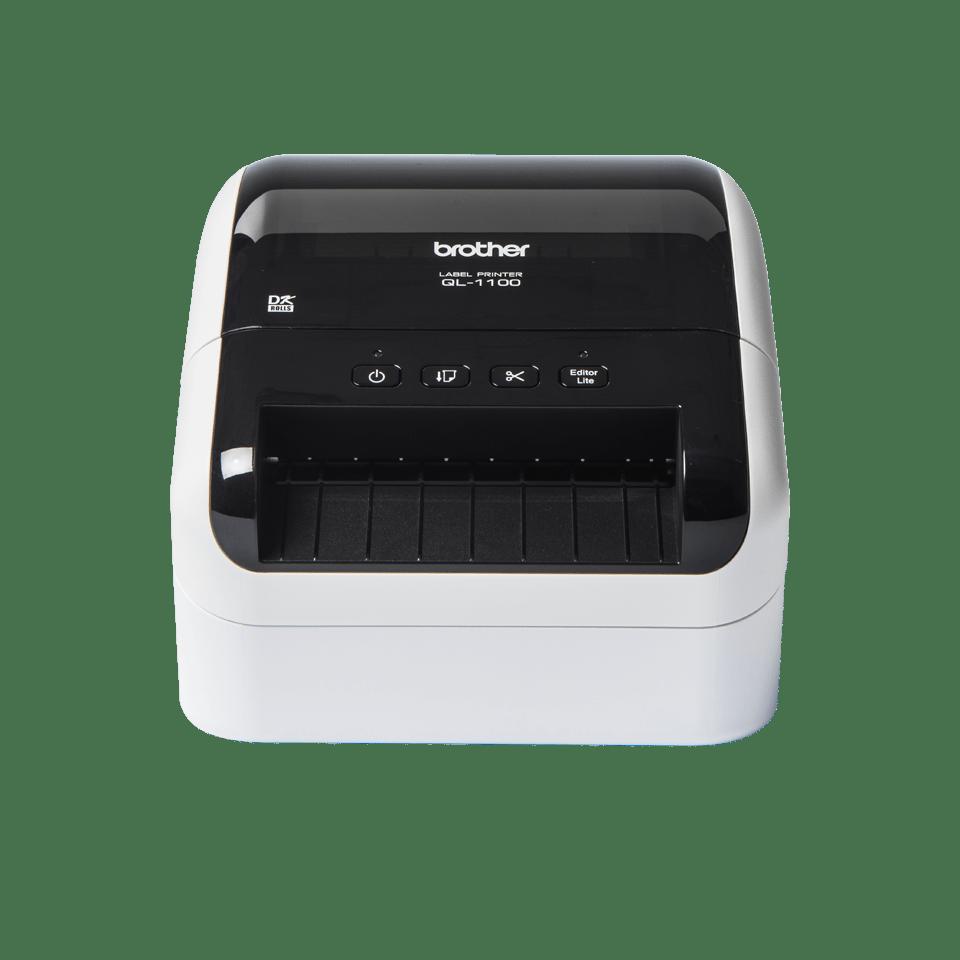 QL1100 etikettskriver for utskrift av leveranseetiketter i bredt format med strekkoder