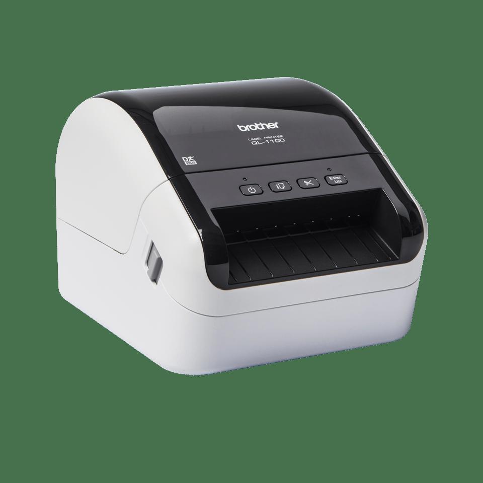 QL1100 etikettskriver for utskrift av leveranseetiketter i bredt format med strekkoder 3