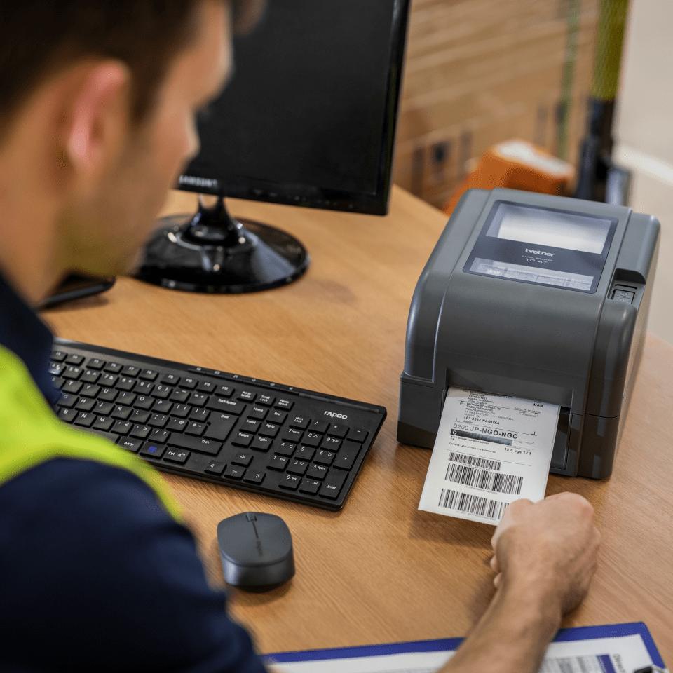 Brother TD4420TN skrivebords etikettskriver med termisk overføringsteknologi 6