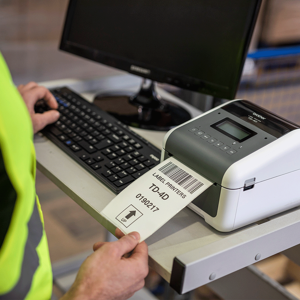 Brother TD4550DNWB etikettskriver med Bluetooth, Wi-Fi og kablet nettverkstilkobling 7