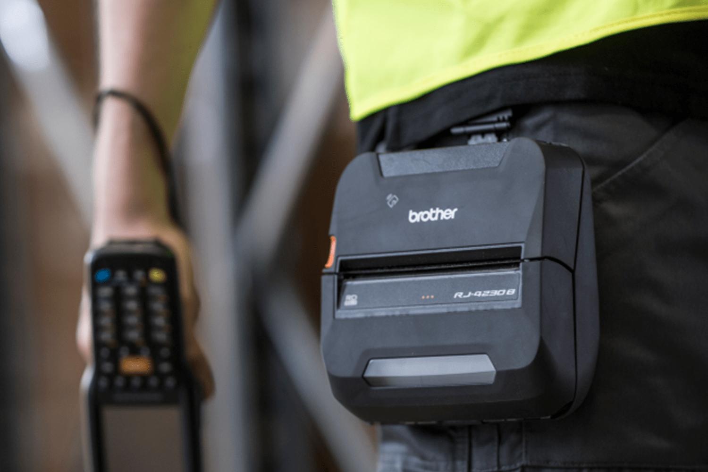 RJ4230Bmobil kvitteringsskriver og etikettskriver med Bluetooth 6