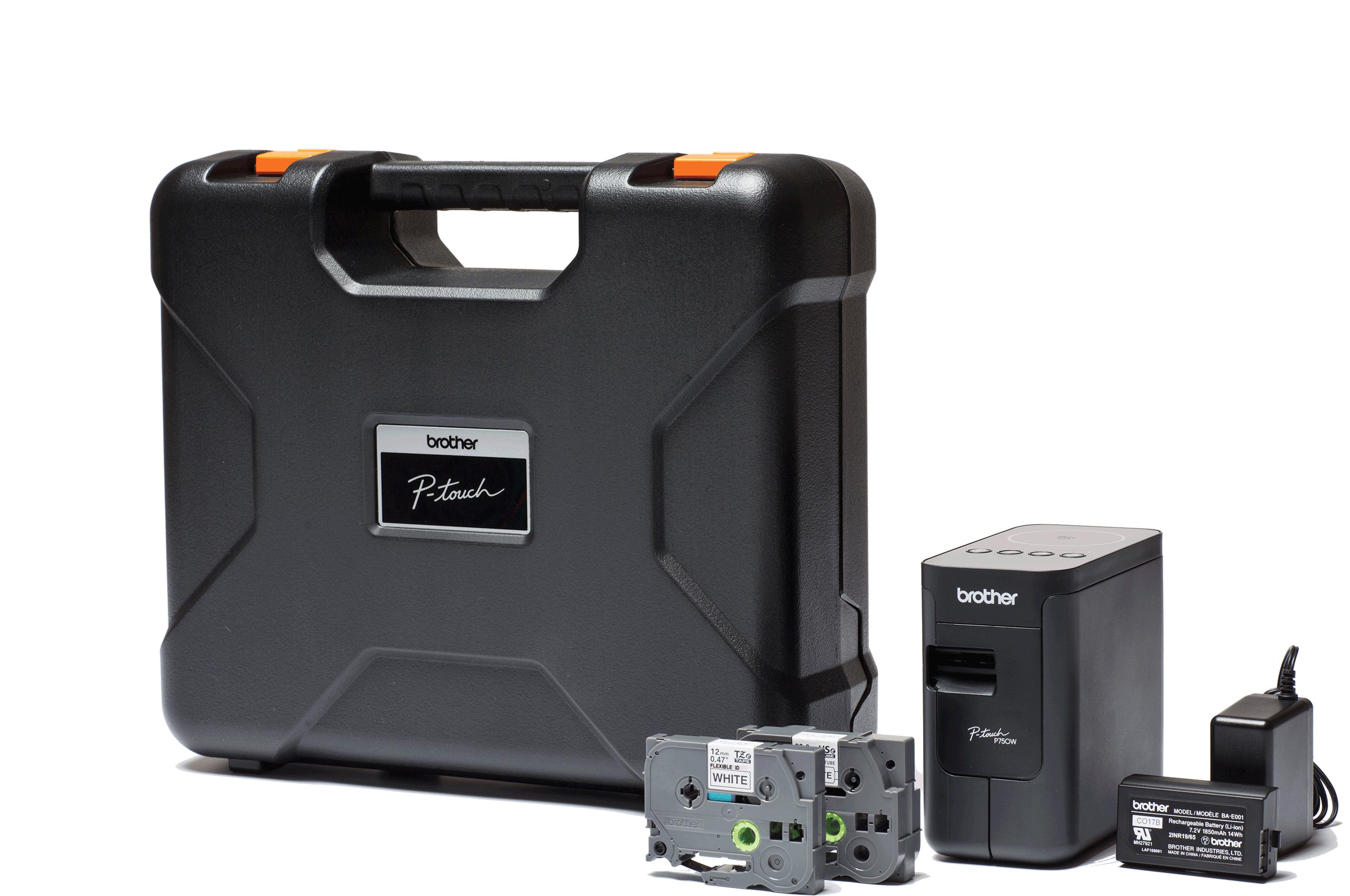Merkemaskin Brother PTP750TDI med koffert og tilbehør