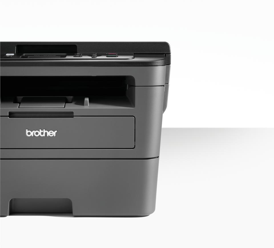 Brother DCPL2530DW - kompakt trådløs multifunksjon sort-hvitt laserskriver  3