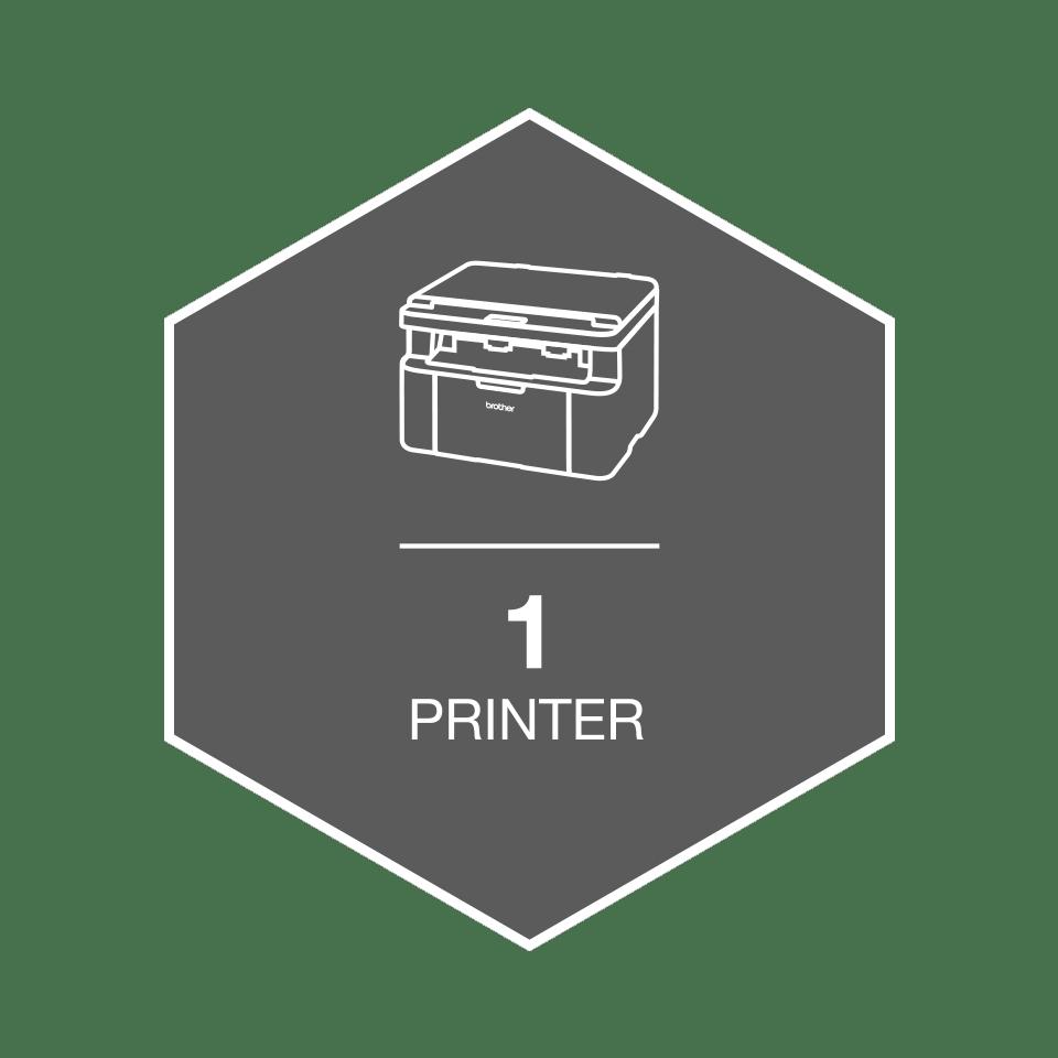 Brother HL1210WVB trådløs sort-hvitt laserskriver -  All in Box 8
