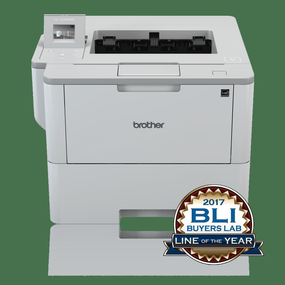 Brother HLL6300DW sort-hvitt laserskriver med BLI Buyers Lab Line of the year logo