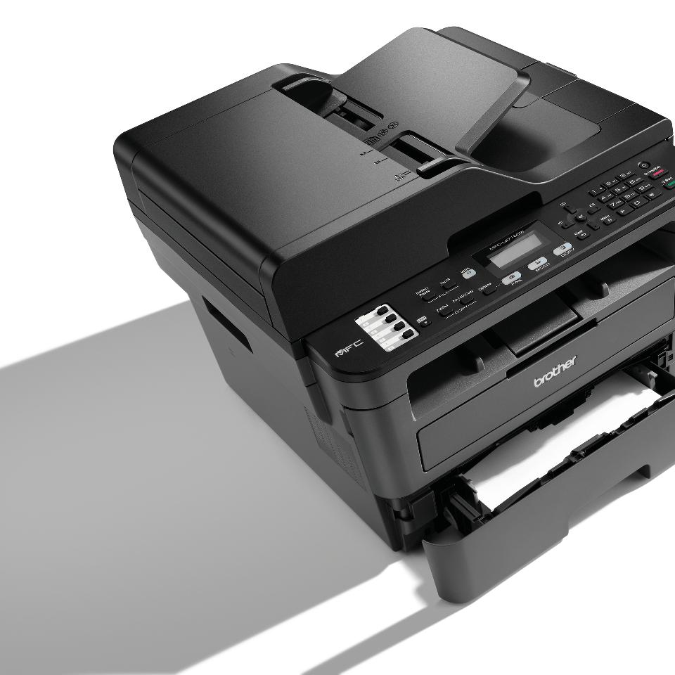 Brother MFCL2710DW kompakt multifunksjon sort-hvitt laserskriver med kablet og trådløst nettverk 4
