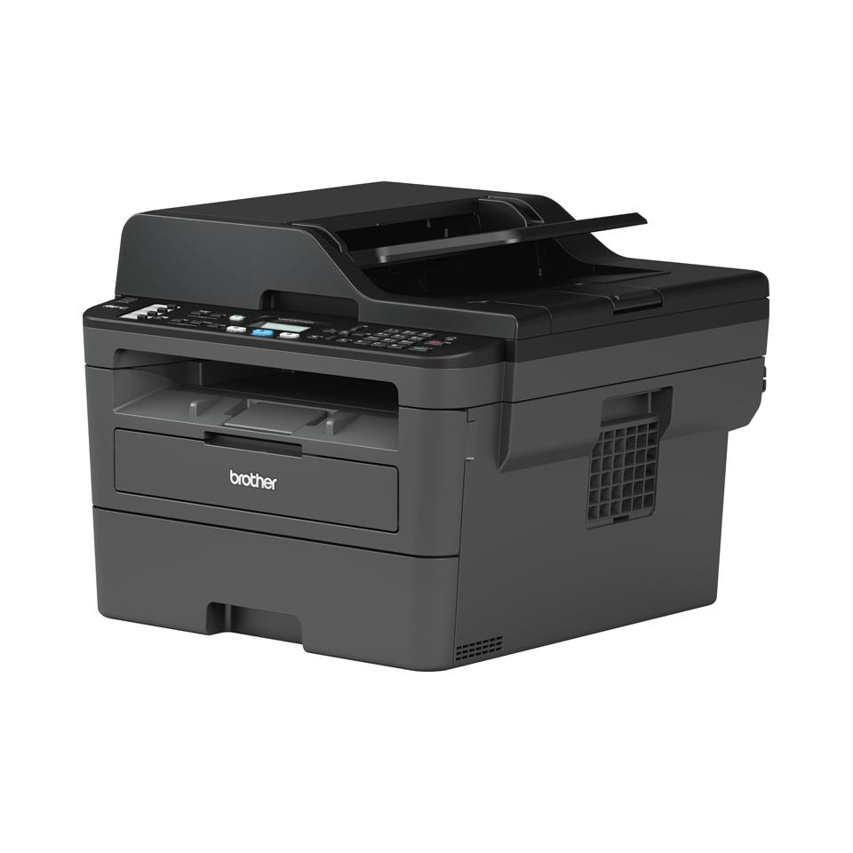 Brother MFCL2710DW kompakt multifunksjon sort-hvitt laserskriver med kablet og trådløst nettverk