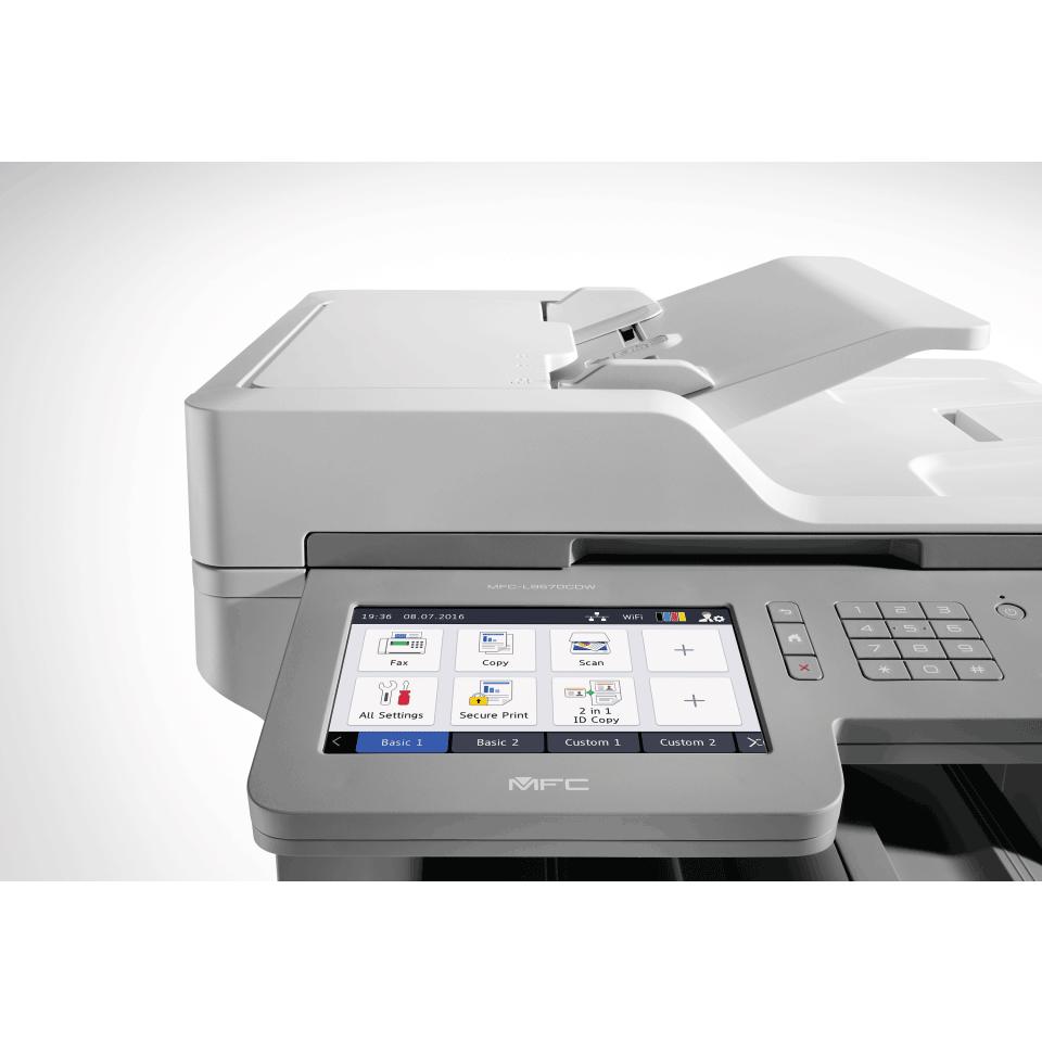Brother MFC-L9570CDW profesjonell multifunksjon farge laserskriver med allsidig papirhåndtering 4