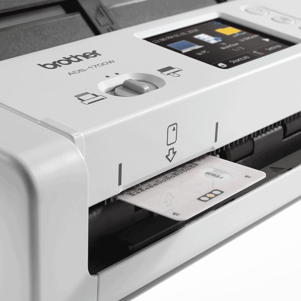Brother ADS1700W smart og kompakt trådløs dokument skanner 7