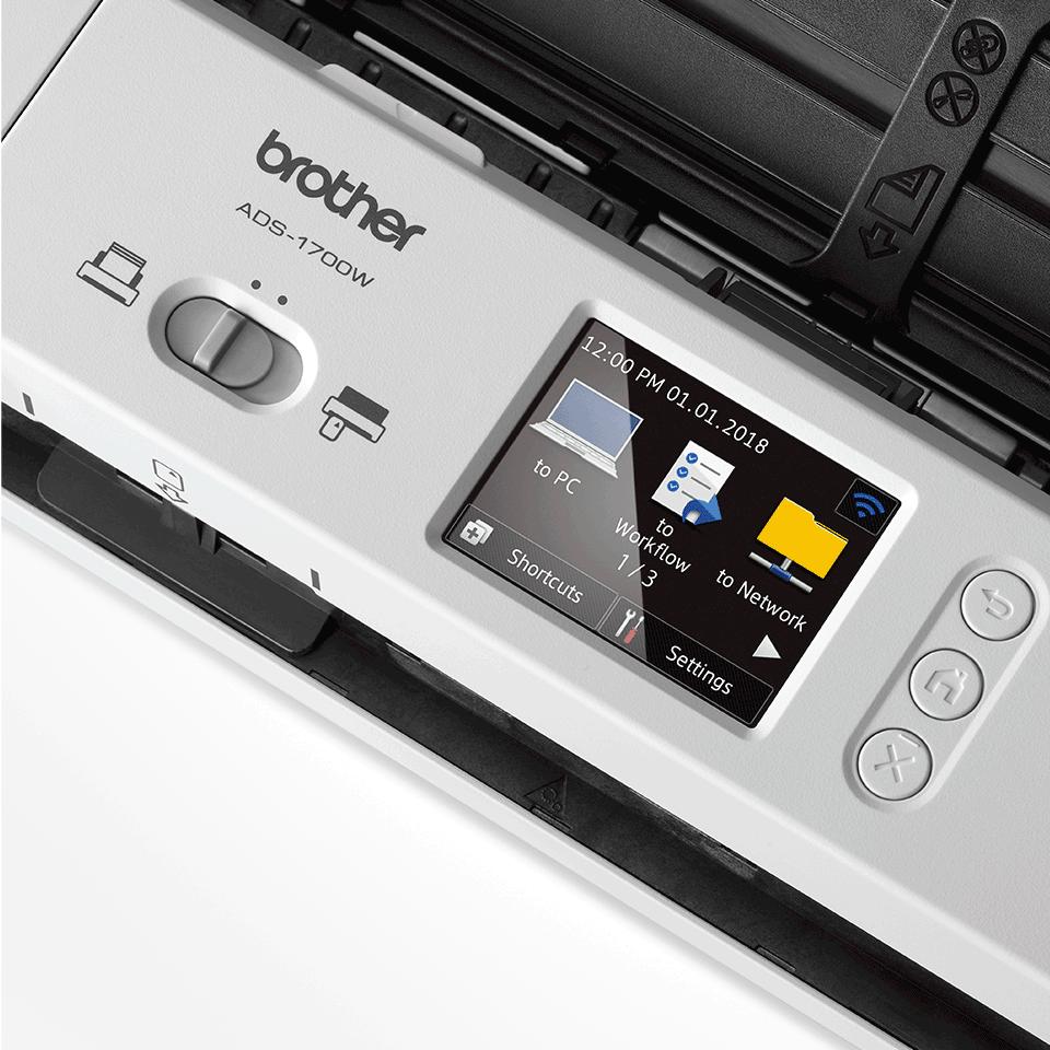 Brother ADS1700W smart og kompakt trådløs dokument skanner 8
