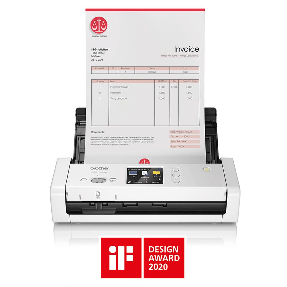 Brother ADS1700W smart og kompakt trådløs dokument skanner 3