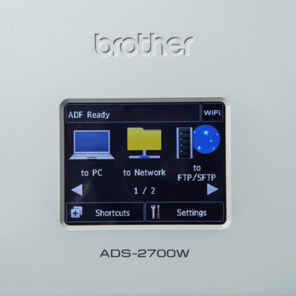 Brother ADS2700W kablet og trådløs dokumentskanner 7