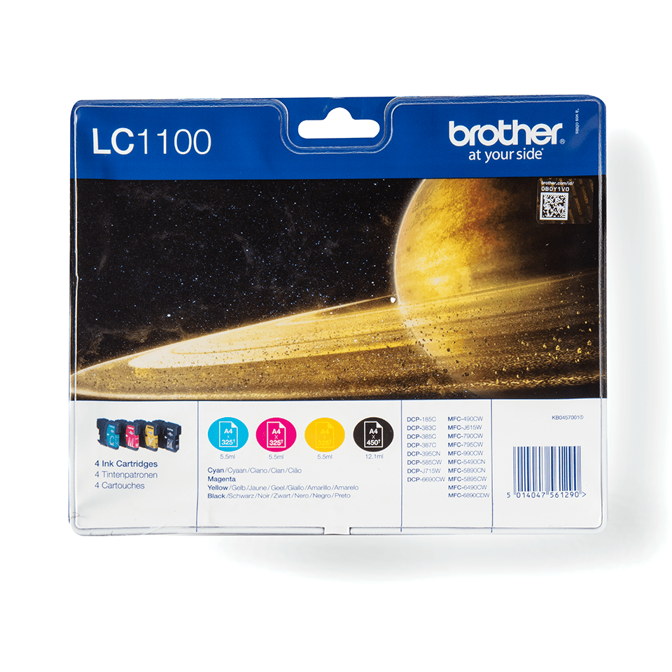 Original Brother LC1100VALBPDR blekkpatroner i multipack