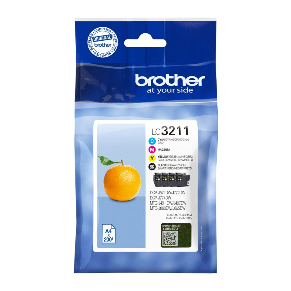 Brother original LC3211VALDR blekkpatroner multipakke