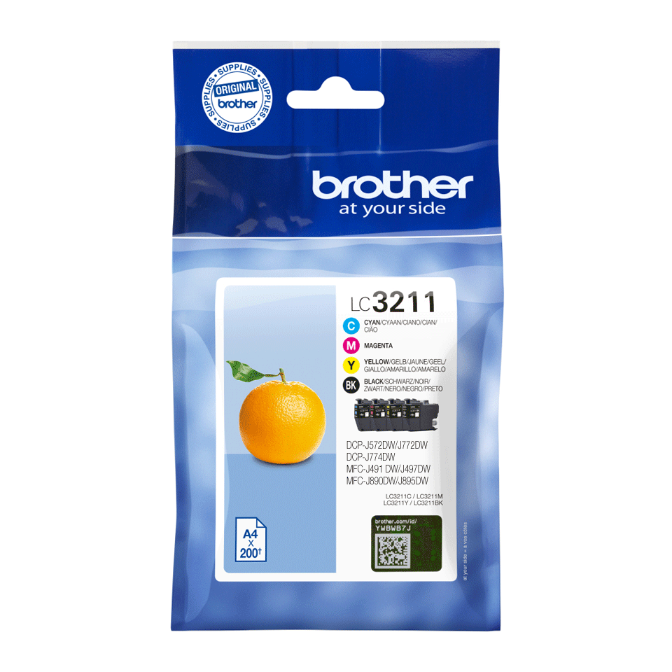 Brother original LC3211VALDR blekkpatroner multipakke