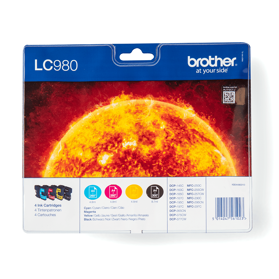 Original Brother LC980VALBPDR blekkpatroner i multipack