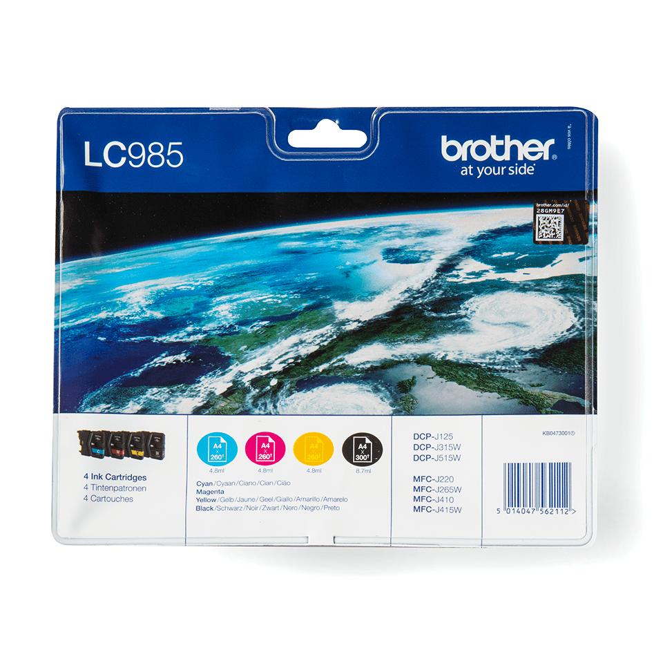 Original Brother LC985VALBPDR blekkpatroner i multipack
