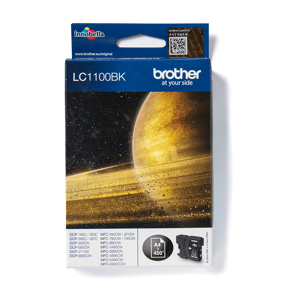 Brother original LC1100BK sort blekkpatron