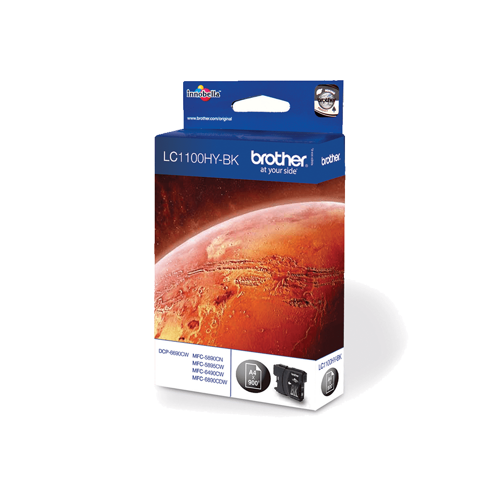 Original Brother LC1100HYBK høykapasitet blekkpatron – sort 2