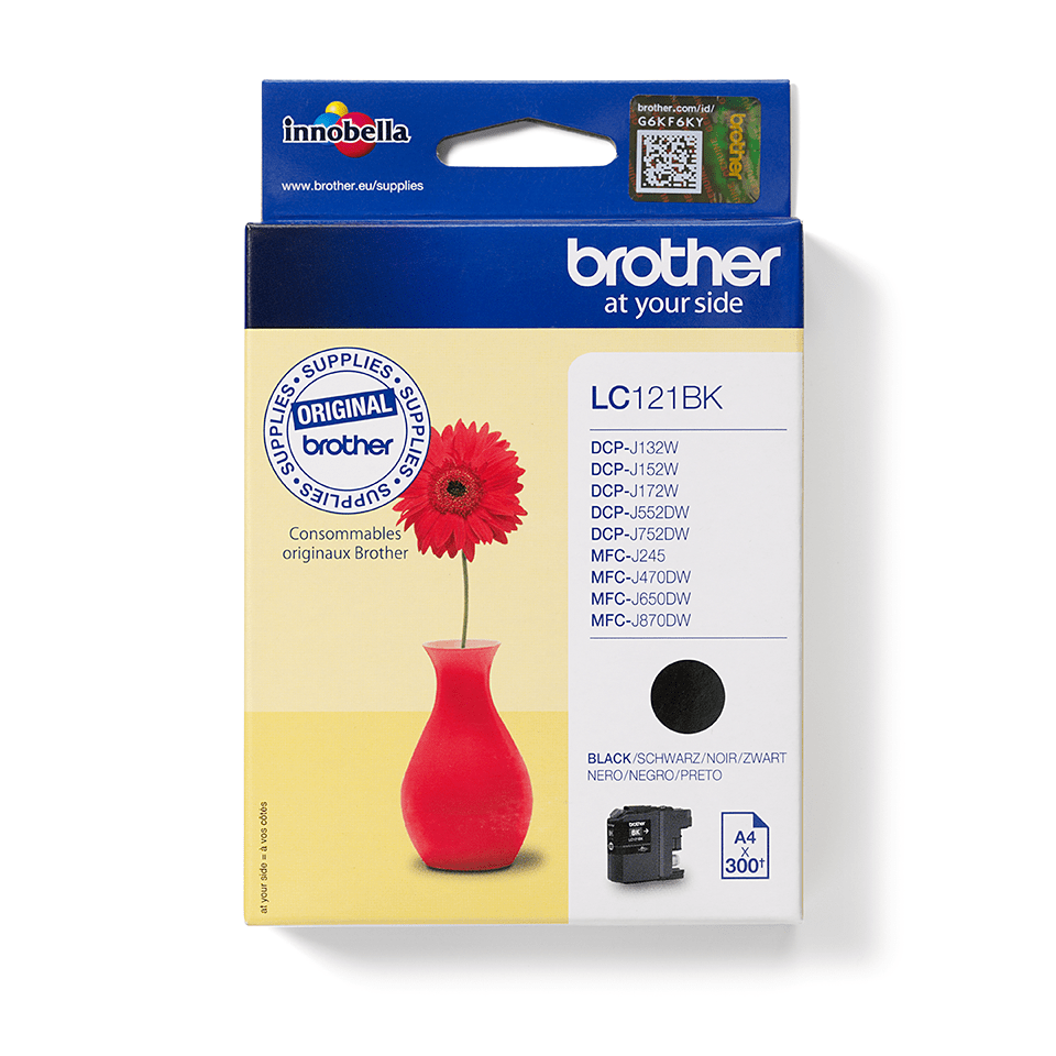 Brother original  LC121BK sort blekkpatron