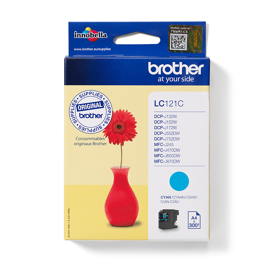 Original Brother LC121C blekkpatron – cyan