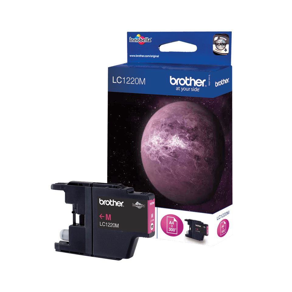 Original Brother LC1220M blekkpatron – magenta