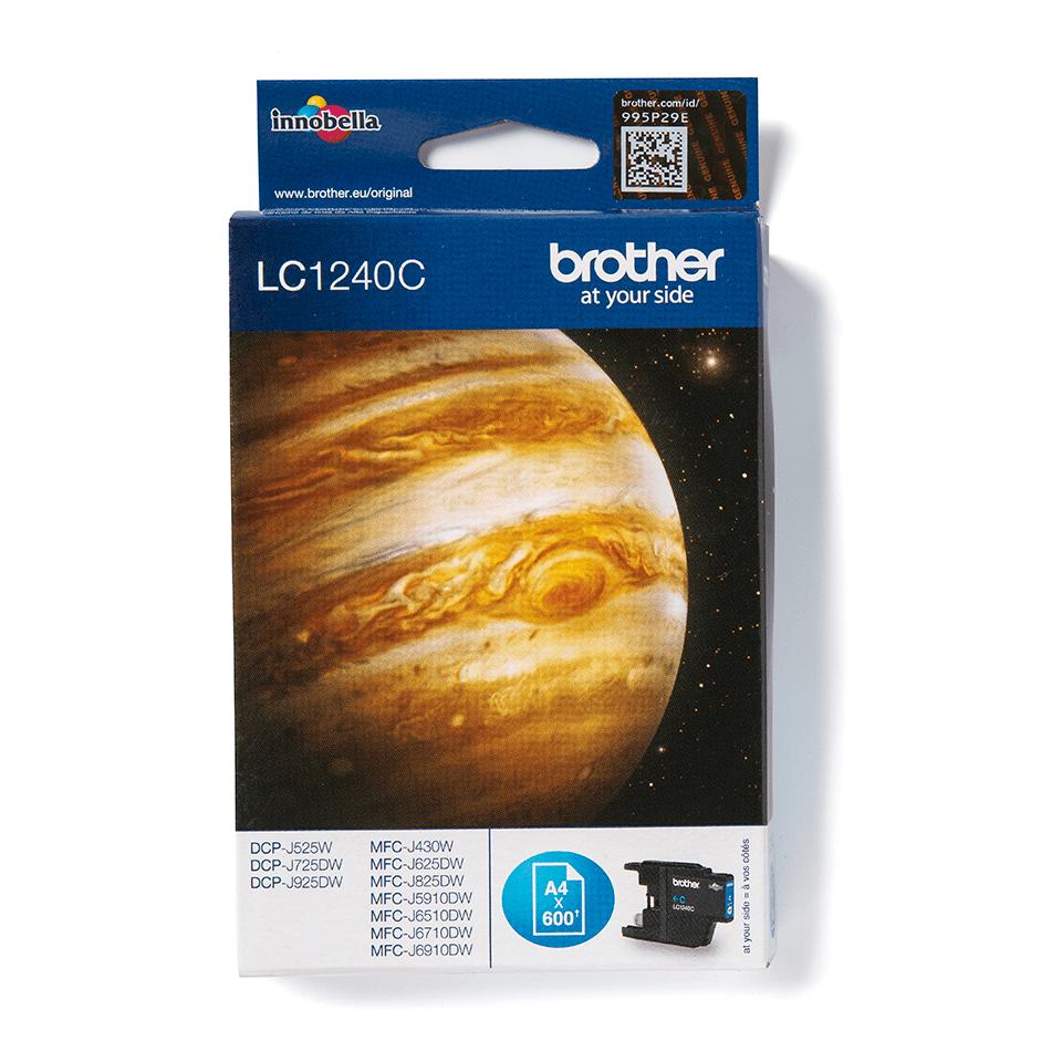 Original Brother LC1240C høykapasitet blekkpatron – cyan